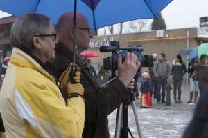 Wim aan het filmen tijdens Carnaval 2012.